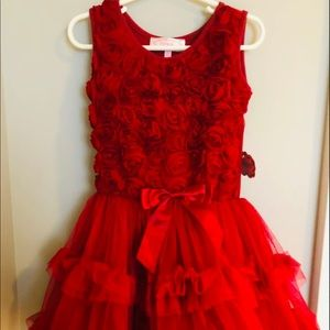 Girls Popatu Valentines Day Dress Roses Size 3-4